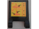 Part No: 2335pb168  Name: Flag 2 x 2 Square with Jet Ski Target Diagram Pattern (Sticker) - Set 76034
