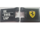 Part No: 2335pb201  Name: Flag 2 x 2 Square with Ferrari Logo, 'SF' and 'IN THIS LAP' on White Lines Pattern (Stickers) - Set 8185