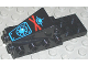 Part No: 2336pb01  Name: Cockpit Space Nose with Aquazone Aquashark Blue Shark with Red 'X' Pattern
