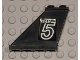 Part No: 2340pb036L  Name: Tail 4 x 1 x 3 with White 'TEAM 5' Pattern on Left Side (Sticker) - Set 5581