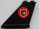 Part No: 2340pb039L  Name: Tail 4 x 1 x 3 with Fire Logo Badge on Red Circle Background Pattern on Left Side (Sticker) - Set 7906