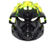 Part No: 24154pb03  Name: Bionicle Mask of Earth (Unity) with Marbled Trans-Neon Green Pattern