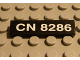 Part No: 2431pb031  Name: Tile 1 x 4 with 'CN 8286' Pattern (Sticker) - Set 8286