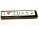 Part No: 2431pb090  Name: Tile 1 x 4 with 'I' Heart 'JOKER' Pattern (Sticker) - Set 7886