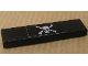 Part No: 2431pb105  Name: Tile 1 x 4 with Skull and Crossbones Pattern (Sticker) - Set 8135