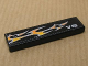 Part No: 2431pb109L  Name: Tile 1 x 4 with 'V8' and White and Orange Flames Pattern Model Left (Sticker) - Set 8135