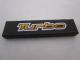 Part No: 2431pb205  Name: Tile 1 x 4 with 'Turbo' on Black Background Pattern (Sticker) - Set 8495