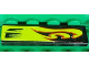 Part No: 2431pb232R  Name: Tile 1 x 4 with Lime Swirls and Air Intake Pattern Model Right Side (Sticker) - Set 8681