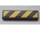 Part No: 2431pb248  Name: Tile 1 x 4 with Black and Yellow Danger Stripes Pattern (Sticker) - Set 8639