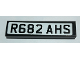 Part No: 2431pb567  Name: Tile 1 x 4 with 'R682 AHS' License Plate on White Background Pattern (Sticker) - Set 10242