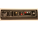 Part No: 2431pb595  Name: Tile 1 x 4 with SW Millennium Falcon Control Panel and Cables Pattern (Sticker) - Set 75105