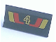 Part No: 2440pb002  Name: Hinge Panel 6 x 3 with Red and Yellow Stripes and Number 4 Pattern
