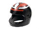 Part No: 2446pb18  Name: Minifigure, Headgear Helmet Motorcycle (Standard) with Interlocking Silver and Red Pattern