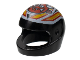 Part No: 2446pb33  Name: Minifigure, Headgear Helmet Motorcycle (Standard) with Crazy Demon Pattern