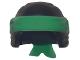 Part No: 24496pb07  Name: Minifigure, Headgear Ninjago Wrap Type 3 with Green Bandana and Knot Pattern