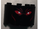 Part No: 24593pb02  Name: Cylinder Half 2 x 4 x 2 with 1 x 2 Cutout with Red Eyes (Ares Face) Pattern