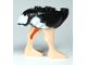Part No: 24689pb01  Name: Ostrich Body with White Tail and Wingtips and Light Nougat Legs
