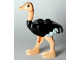 Part No: 24689pb01c01  Name: Ostrich with White Tail and Wingtips and Light Flesh Legs and Head