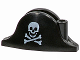 Part No: 2528pb01  Name: Minifigure, Headgear Hat, Pirate Bicorne with Small Skull and Crossbones Pattern