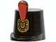 Part No: 2545pb01  Name: Minifigure, Headgear Hat, Imperial Guard Shako with Red Plume and Gold Emblem Pattern