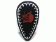 Part No: 2586pb004  Name: Minifigure, Shield Ovoid with Boar Head and Silver Border Pattern