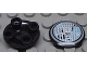 Part No: 2654pb001  Name: Plate, Round 2 x 2 with Rounded Bottom and Headlight Pattern