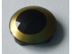 Part No: 2654pb014  Name: Plate, Round 2 x 2 with Rounded Bottom with Gold Circle Pattern