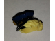 Part No: 28430pb03  Name: Minifigure, Hair Combo, Hat with Hair, Police with Dark Blue Top with Gold Badge and Bright Light Yellow Hair Pulled Into Bun Pattern (BAM)