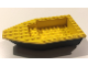 Part No: 28533c02  Name: Boat Hull Unitary 16 x 8 Base with Yellow Boat Hull Unitary 16 x 8 Top (28533 / 28535)