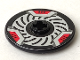 Part No: 2958pb001  Name: Technic, Disk 3 x 3 with Disk Brake Red Caliper Pattern (Sticker) - Set 8520