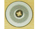 Part No: 2958pb014  Name: Technic, Disk 3 x 3 with Black Rings on Silver Background Pattern (Sticker) - Set 8007