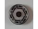 Part No: 2958pb040  Name: Technic, Disk 3 x 3 with Disk Brake Silver / Black Hexagonal Bolt Pattern (Sticker) - Set 8355