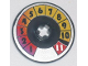 Part No: 2958pb044  Name: Technic, Disk 3 x 3 with Numbers 1 to 11 Pattern