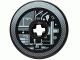Part No: 2958pb046  Name: Technic, Disk 3 x 3 with Machinery Pattern 2 (Sticker) - Set 4504
