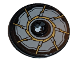 Part No: 2958pb070  Name: Technic, Disk 3 x 3 with Gold Blade Pattern (Sticker) - Set 76097