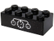 Part No: 3001pb150  Name: Brick 2 x 4 with 3 White Gauges on Black Background Pattern (Sticker) - Set 40370