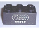 Part No: 3002oldpb09  Name: Brick 2 x 3 with 5 White Dots and Speaker Grille (Radio) Pattern (Sticker) - Set 294