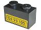 Part No: 3004pb028  Name: Brick 1 x 2 with 'OJ 93 105' Pattern (Sticker) - Sets 2148 / 10156