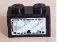Part No: 3004pb030  Name: Brick 1 x 2 with Headlight Light Gray Pattern (Sticker) - Set 8280