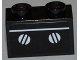 Part No: 3004pb111  Name: Brick 1 x 2 with White Line and Oven Knobs Pattern (Sticker) - Set 3833