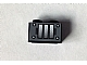 Part No: 3004pb114  Name: Brick 1 x 2 with Black Grille, 4 Rivets and 3 Bars Pattern (Sticker) - Set 10144