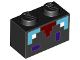 Part No: 3004pb151  Name: Brick 1 x 2 with Minecraft Pixelated Enchantment Table Pattern