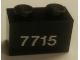 Part No: 3004pb158  Name: Brick 1 x 2 with White '7715' on Transparent Background Pattern (Sticker) - Set 7715