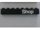 Part No: 3008pb030  Name: Brick 1 x 8 with White 'Shop' Pattern (Sticker) - Set 6378