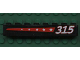 Part No: 3008pb051R  Name: Brick 1 x 8 with 5 Stars on Red Stripe and '315' on Right Pattern (Sticker) - Set 6596