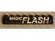 Part No: 3008pb104  Name: Brick 1 x 8 with White 'MAGIC FLASH' Pattern (Sticker) - Set 5581