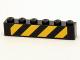 Part No: 3009pb170  Name: Brick 1 x 6 with Black and Yellow Danger Stripes Pattern (Sticker) - Set 4204