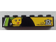 Part No: 3009pb176  Name: Brick 1 x 6 with City Museum with 'M' logo and Female Minifigure Head Painting Pattern (Sticker) - Set 60026