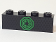Part No: 3010pb215  Name: Brick 1 x 4 with Green Ninjago Emblem Pattern