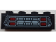 Part No: 3010pb274  Name: Brick 1 x 4 with Grille and Red Headlights Pattern (Sticker) - Set 76086